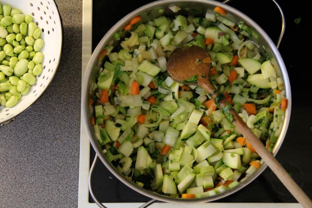 Gemüsesuppe - Minestrone