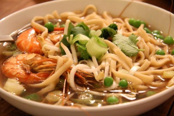 Asiatische Garnelen Suppe